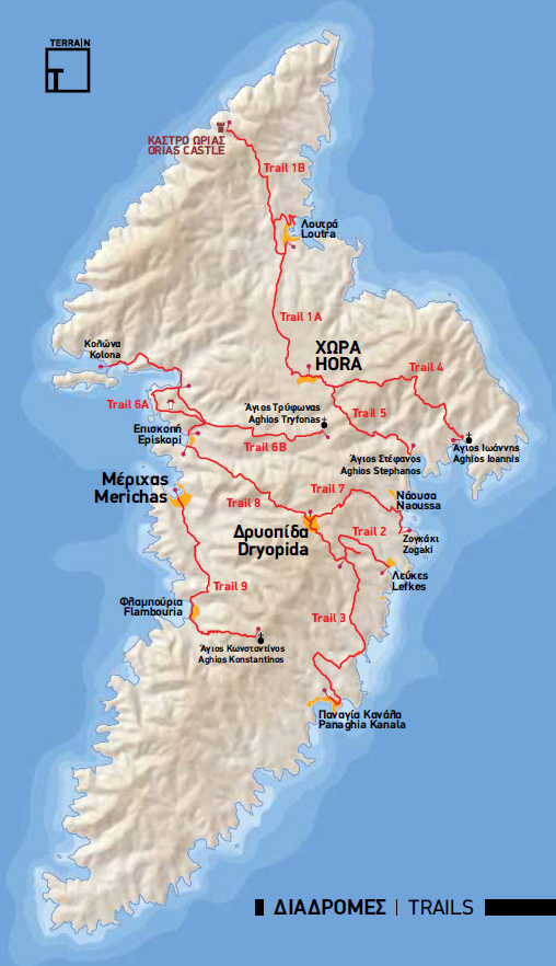 Terrain Kythnos Hiking Guide